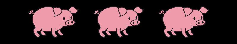 logo Les 3 Petits Cochons Roses